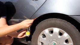 Rost umwandeln und entfernen Nigrin Rostentferner Radkasten Reifen mit Alufelge