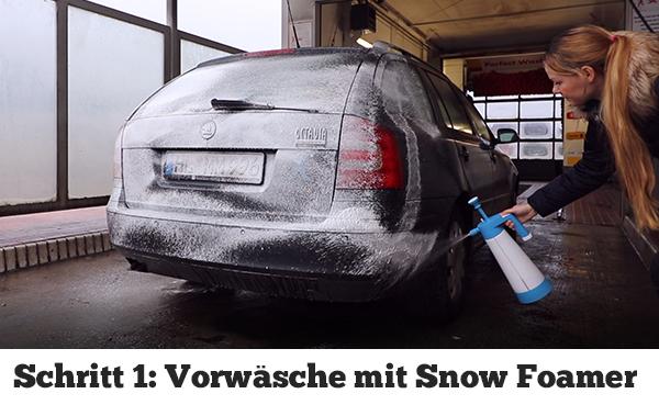 Auto selber mit dem Snow Foamer waschen