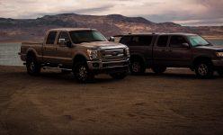 Pick-Ups Ford Dämmerung Wolken Sand