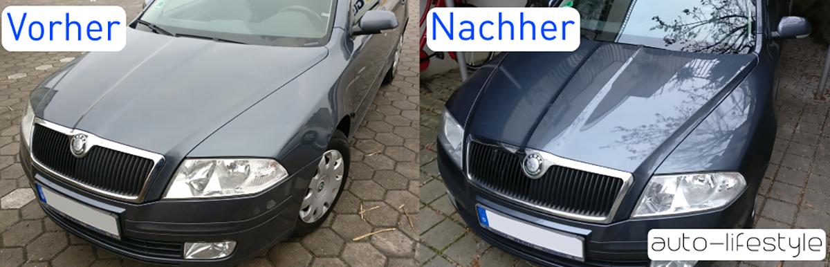 Autowachs Test Vorher Nachher Ergebnis
