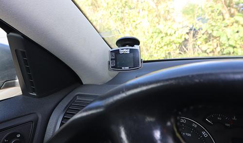Reifendruckkontrollsystem im Cockpit