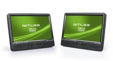 Muse M-1095, 2 Bildschirme, 10,1″ DVD-Player fürs Auto
