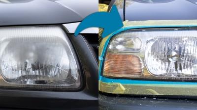Auto-Scheinwerfer günstig aufbereiten / polieren